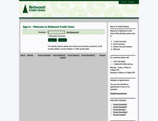 online.redwoodcu.org screenshot