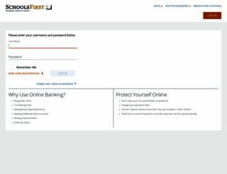 online.schoolsfirstfcu.org screenshot