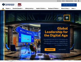 online.thunderbird.edu screenshot