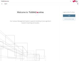 online.tugraz.at screenshot