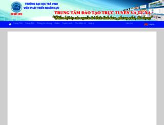 online.tvu.edu.vn screenshot