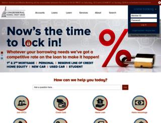 onlinebanking.congressionalfcu.org screenshot