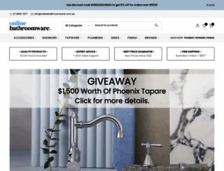 onlinebathroomware.com.au screenshot