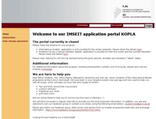 onlinebewerbung-hda.de screenshot