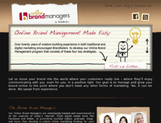 onlinebrandmanagers.com screenshot