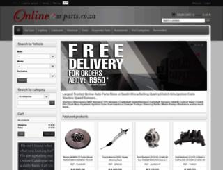onlinecarparts.co.za screenshot