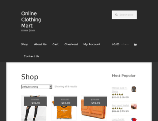 onlineclothingmart.com screenshot