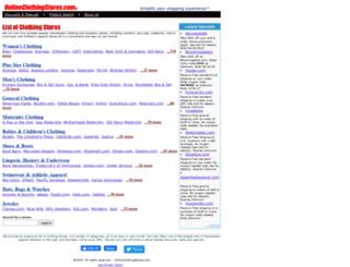onlineclothingstores.com screenshot