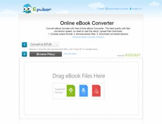 onlineconverter.epubor.com screenshot