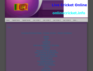 onlinecricket.info screenshot