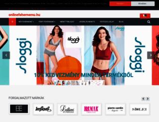 onlinefehernemu.hu screenshot