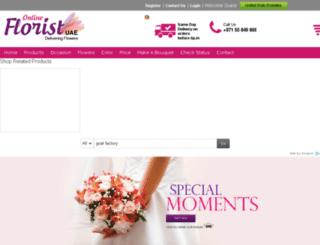 onlinefloristuae.com screenshot
