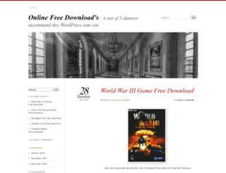 onlinefreedownloads.wordpress.com screenshot
