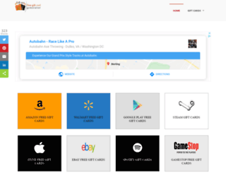 onlinegiftcardgenerator.com screenshot