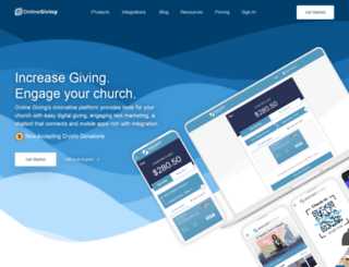 onlinegiving.cc screenshot
