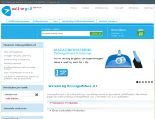 onlinegolfstore.nl screenshot