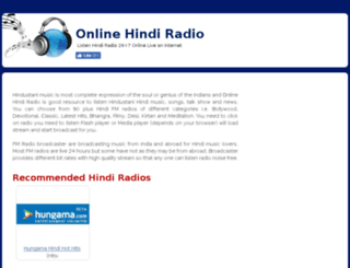 onlinehindiradio.com screenshot