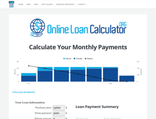 onlineloancalculator.org screenshot