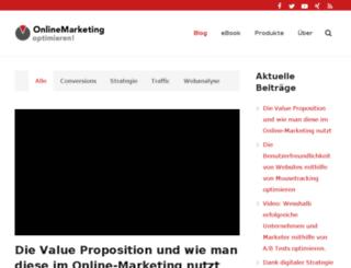 onlinemarketing-optimieren.info screenshot