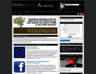 onlinemarketingacademy.uk.com screenshot