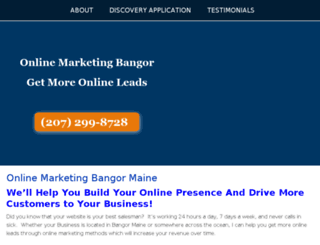 onlinemarketingbangor.com screenshot