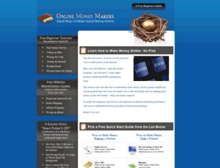 onlinemoneymakers.net screenshot