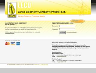 onlinepay.leco.lk screenshot