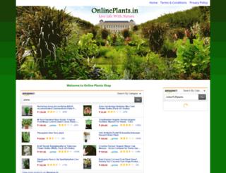 onlineplants.in screenshot