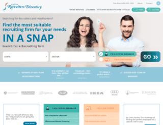 onlinerecruitersdirectory.com screenshot