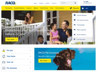 onlineshop.racq.com.au screenshot