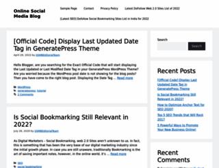 onlinesocialmediablog.com screenshot