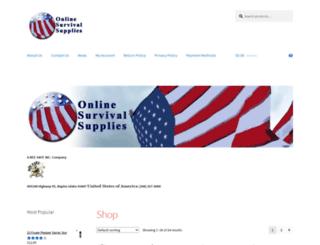 onlinesurvivalsupplies.com screenshot