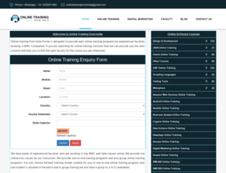 onlinetrainingfromindia.com screenshot