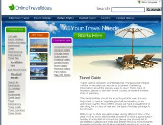 onlinetravelideas.com screenshot