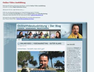 onlinevideoausbildung.de screenshot