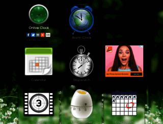 onliveclock.com screenshot