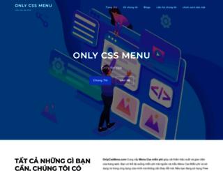 onlycssmenu.com screenshot
