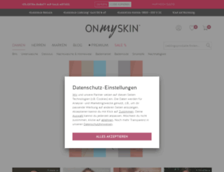onmyskin.de screenshot
