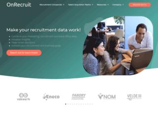 onrecruit.eu screenshot