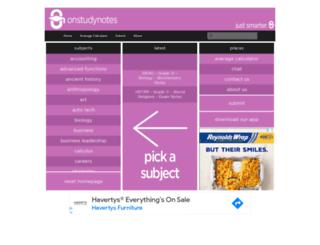 onstudynotes.com screenshot