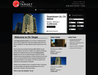 ontargetapartmentrentals.com screenshot
