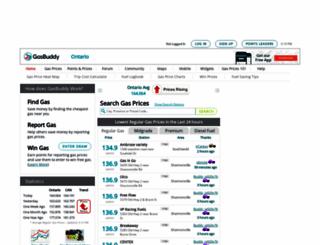 ontariogasprices.com screenshot