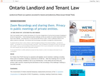 ontariolandlordandtenantlaw.blogspot.ca screenshot