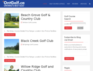 ontgolf.ca screenshot