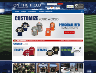 onthefield.com screenshot