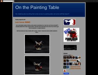 onthepaintingtable.blogspot.com screenshot