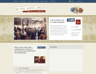 onthewhiteline.com screenshot