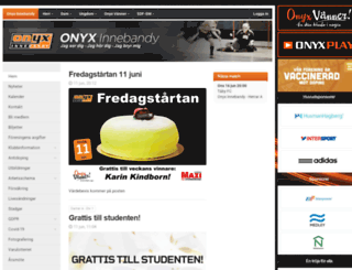 onyxinnebandy.se screenshot