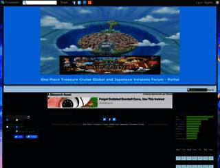 op-treasurecruise.forumotion.com screenshot