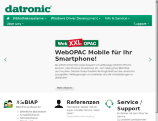 opac.datronic.de screenshot